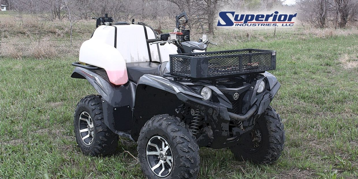 Pictured is a Superior Industries WA25-BB ATV sprayer.