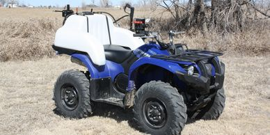 Wrap around ATV sprayer