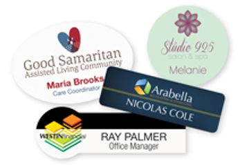 Personalized badges reinforce a company's brand one employee at a time.