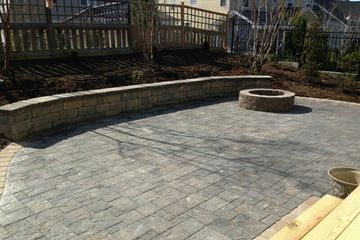 Patios | Outside firepits | Bench Seating | Pavers | Alpha Custom Exteiors