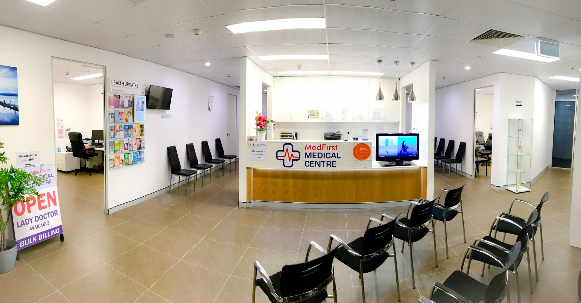 MedFirst Medical Centre Hurstville Reception Area