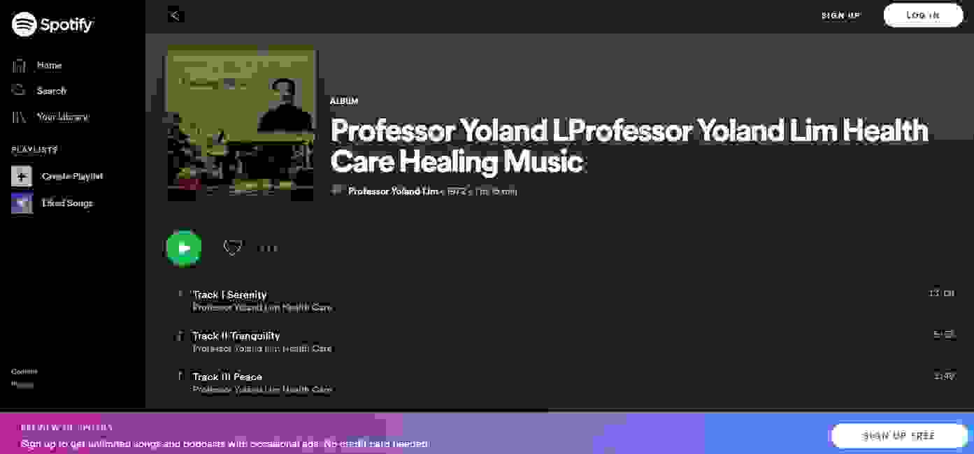 Professor Yoland Lim Dr Justin Lim Dr Selina Lim Spotify Chanting Healing Music No Drugs No Side