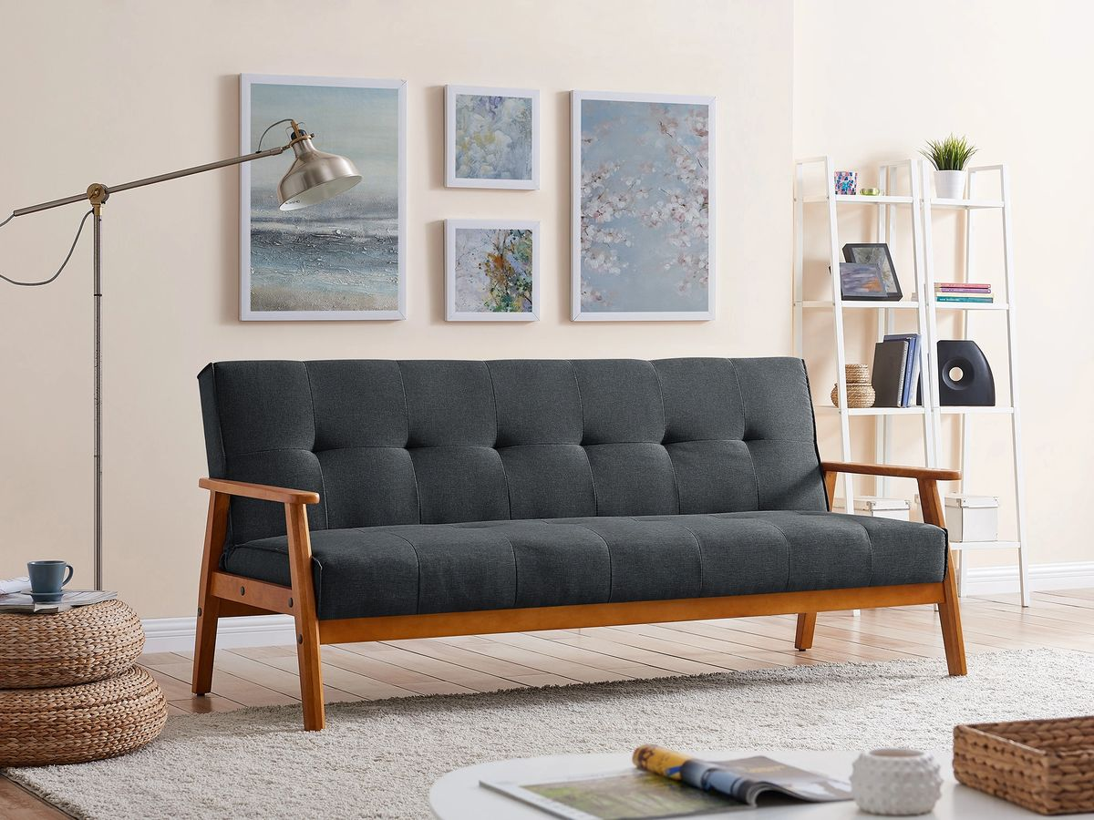 Langford Sofa Bed Fabric 20 Seater Charcoal, Grey, Brown ...