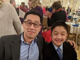 Chris Change proud parent of his son Tyler Chang.