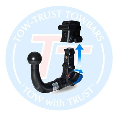 detachable neck towbar