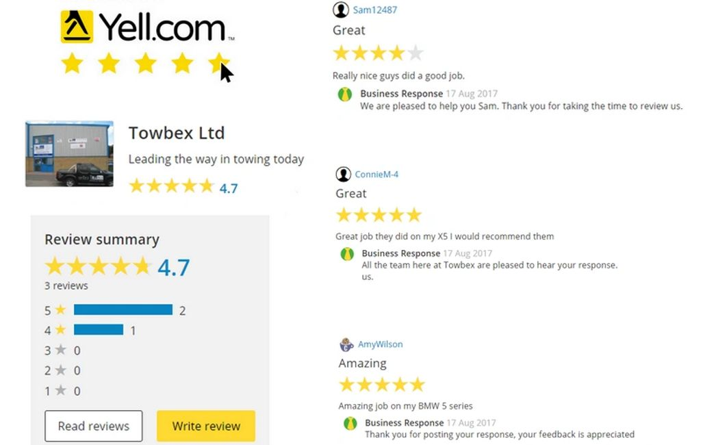 Yell reviews great job towbars sussex amazing job towbar sussex worthing lancing reviews reviewing