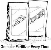 Granular Slow Release Fertilizer is the best way to feed a lawn.  Lawn care the way it should be.