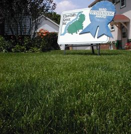 Lawn of the month -Aaron's Greenscape Inc. Services Lawn Care / Tree Care.