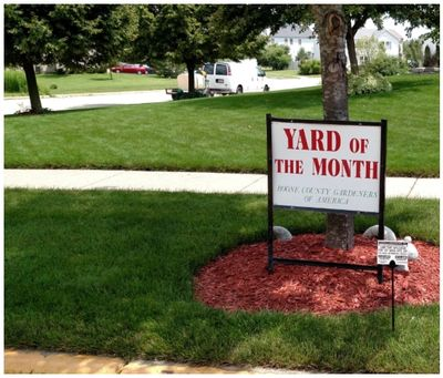 Yard of the month treated by Aarons Greenscape servicing Rockford, Belvidere, Freeport & Nothern IL