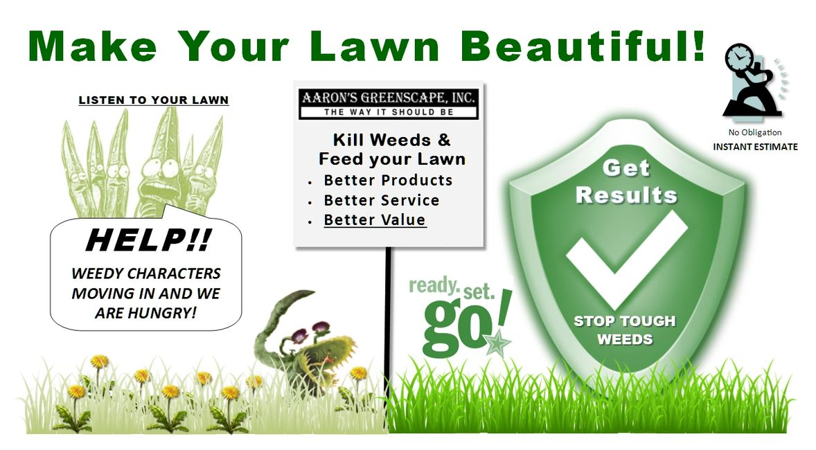 Make Your Lawn Beautiful | Kill weeds + feed your green in Northern Illinois this spring & summer
