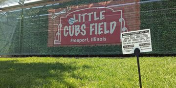 lawn treatments done on Little Cubs Field in Freeport Il