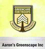 Aaron's Greenscape supports our Activity Deployed Troop with Project Ever Green in Northern IL area