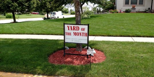 Yard of the month Boone County Gardner's