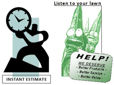 Listen to your lawn | get an Instant Estimate | Make your Lawn beautiful in Northern Illinois area.