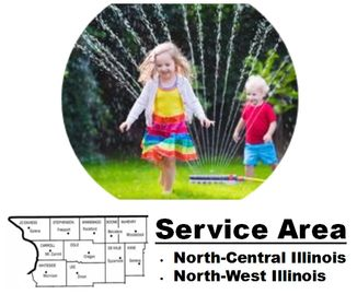 Family enjoy lawns in our service territory around Rockford, Belvidere, Freeport & Northern Illinois
