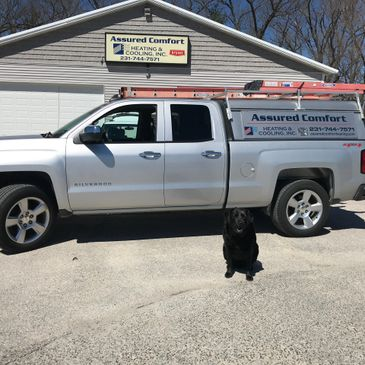 Have you met Gunner?  Our Heating & Cooling Specialist Dog.