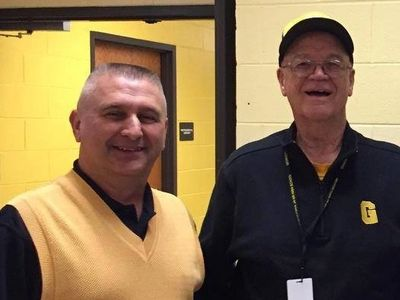 Mike Becraft and Coach Hawkins
