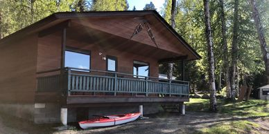 Cabin rentals on Canim Lake at South Point Resort on Canim Lake