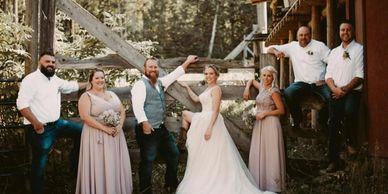 Rustic Cariboo Lakeside weddings on Canim Lake at South Point Resort.
