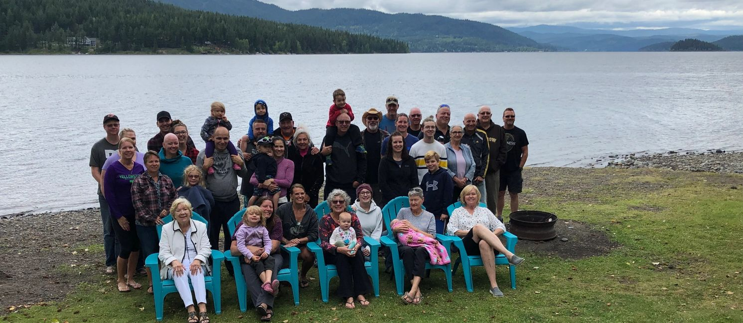 Family reunions in the Cariboo region of BC - South Point Resort on Canim Lake.