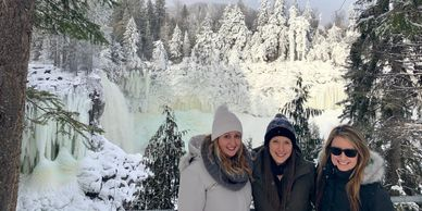 Frozen Canim Falls in the BC Cariboo.