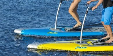 Pontoon boat and paddle board rentals on Canim Lake BC at South Point Resort