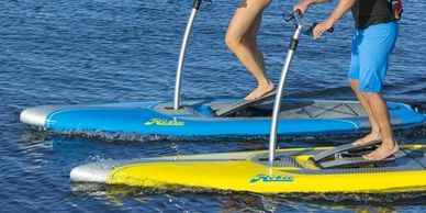 Pontoon, paddle boards, kayak and boat rentals on Canim Lake.