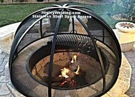 "alt=""fire pit screen center pivot,lift off dome,square,rectangular"""