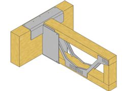 Joist hangers, floors, metal web,