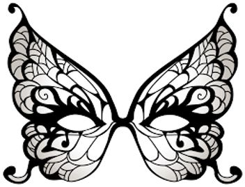 Butterfly-shaped mask.