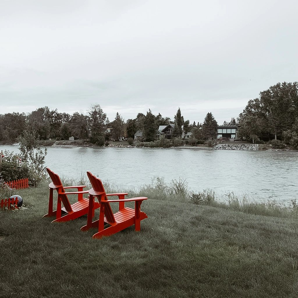Come enjoy our famous red chairs and river view.  Peace, serenity & luxury in the heart of Calgary.
