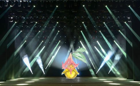 Eggoh, illustration, lights, morning glory, stage, art, lights, action, camera, peacock, rooster