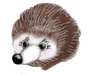 Hedgehog cute surfing hedgepig pet surf spinning cuddles smart surf soup animation spikes roll ball