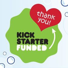 Funded by Kickstarter project kickstarted thank you logo