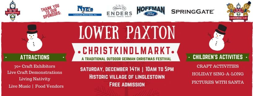 "{""blocks"":[{""key"":""anc9e"",""text"":""Christmas Outdoor Festival Christkindlmarkt in Linglestown Lower Paxton Township Harrisburg Dauphin County PA.  Near Hershey, Carlisle, Lebanon, Lancaster, York.  Inspired by Christkindl markets in Mifflinburg, Betheleham, Philadelphia and Pittsburgh."",""type"":""unstyled"",""depth"":0,""inlineStyleRanges"":[],""entityRanges"":[],""data"":{}}],""entityMap"":{}}"