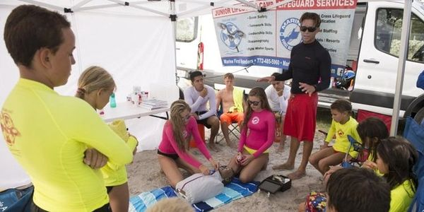Learning CPR for  swimming and surfing emergencies