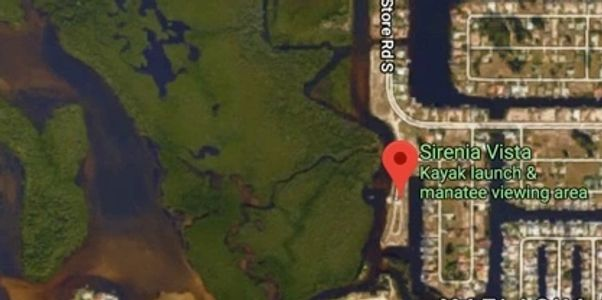 Map and kayak trails of Sirenia Vista Park in Cape Coral Florida