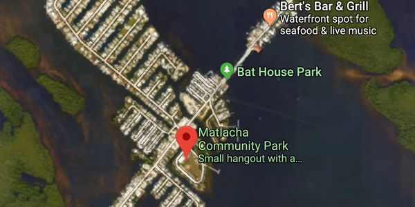 Map and kayak trails of Matlacha Community Park