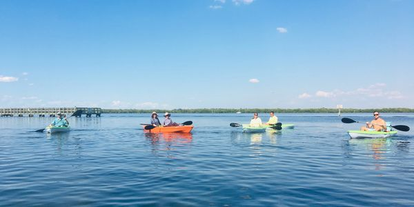 Group of people kayaking in Matlacha Florida