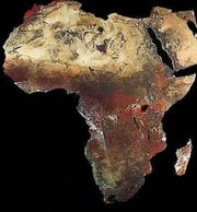 Image of the continent of Africa.