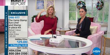 Amanda May at Home Shopping Network for The VampStamp
