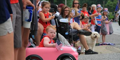 parade, july 4th, independence day, patriot, indiana, annual