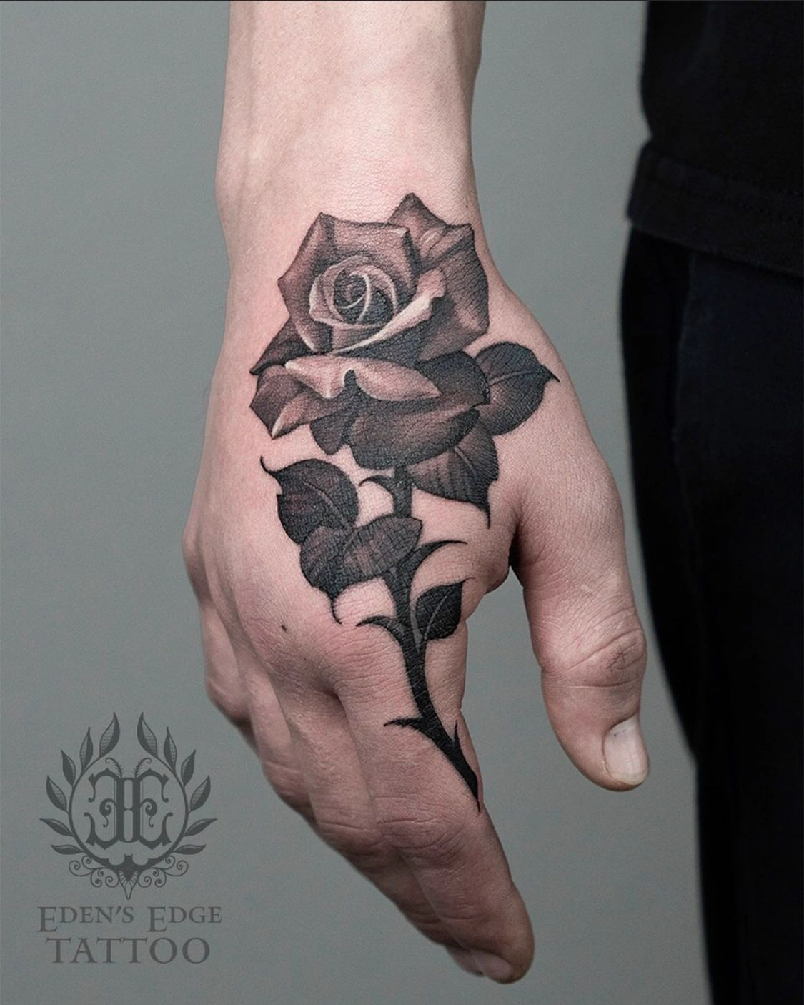 Rose Hand tattoo by Ryan Townsend