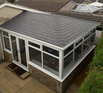 Insulated roof on conservatory