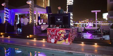 W Hotel Hollywood Pool Party Loft Deck Summer DJ VIP Life Los Angeles California