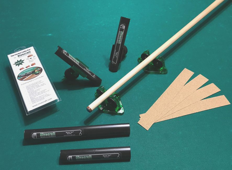 A selection of the most precise cue tip shaper tools by Nivecraft