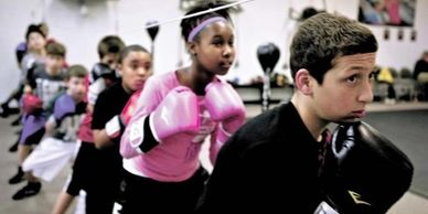 Youth boxing and agility exercise