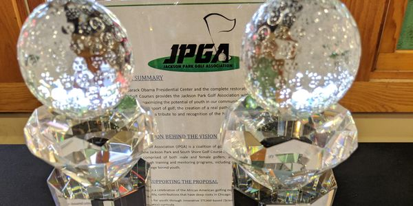 Men's & Women's crystal trophies for 2nd Annual JPGA Invitational