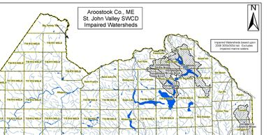 Impaired watersheds in our region (shown) can be improved by waterside trees and other vegetation.