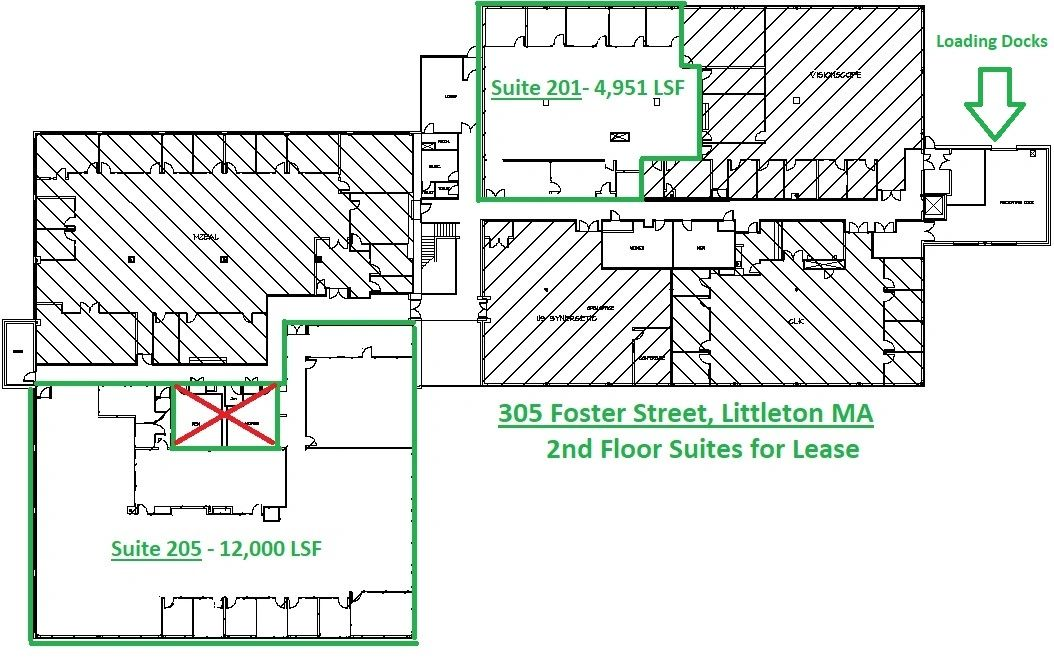 305 Foster Street - 2nd Floor Available Suites